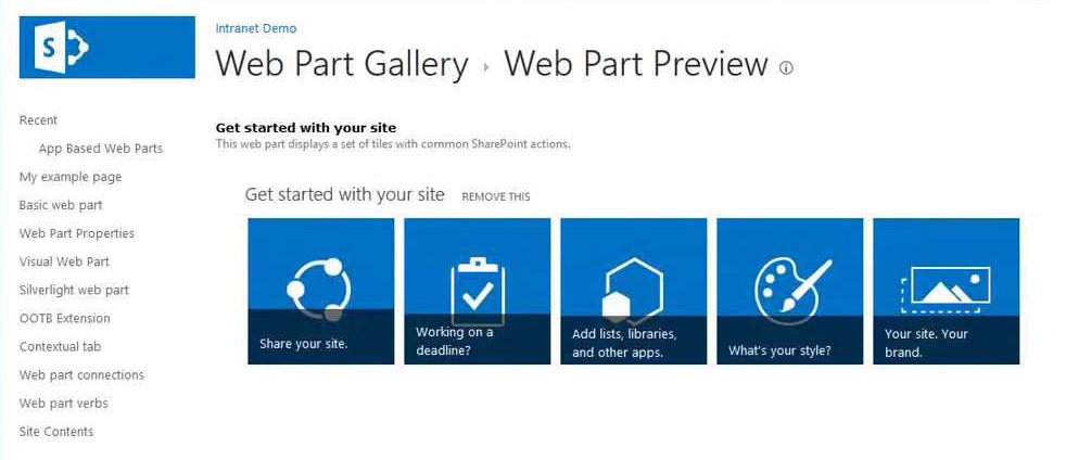 SharePoint web part services