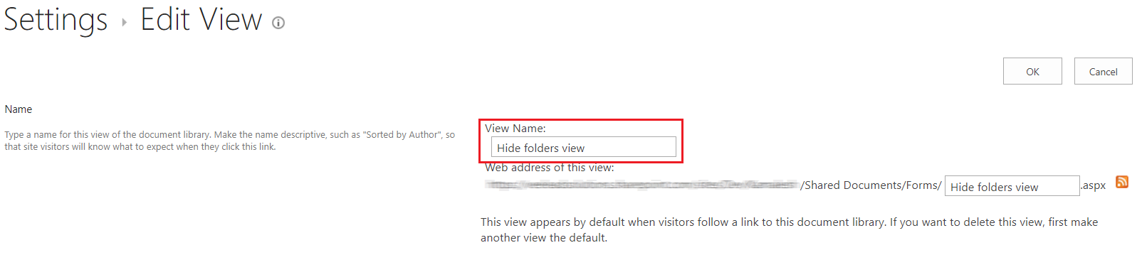 SharePoint Edit Settings