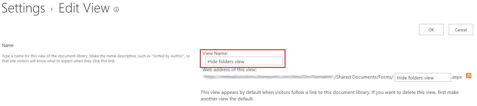 SharePoint Edit Settings