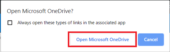 Open Microsoft OneDrive