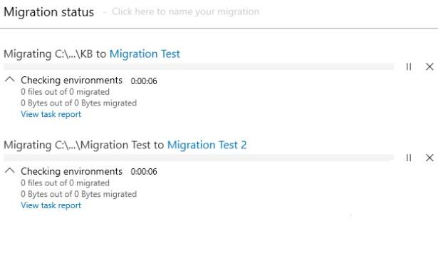 Migration status