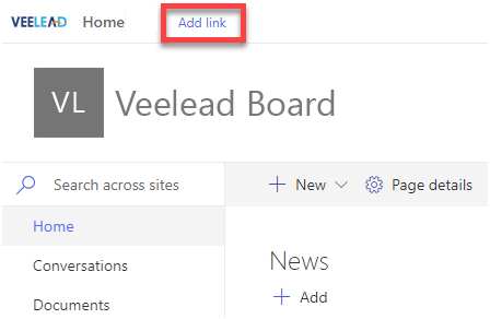 SharePoint add link