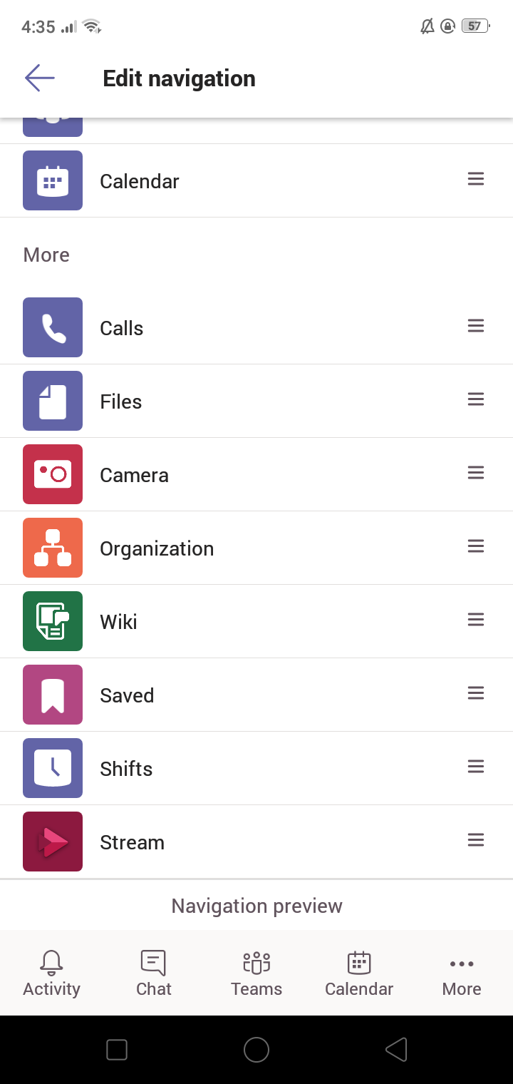 MicrosoftTeams Mobile app