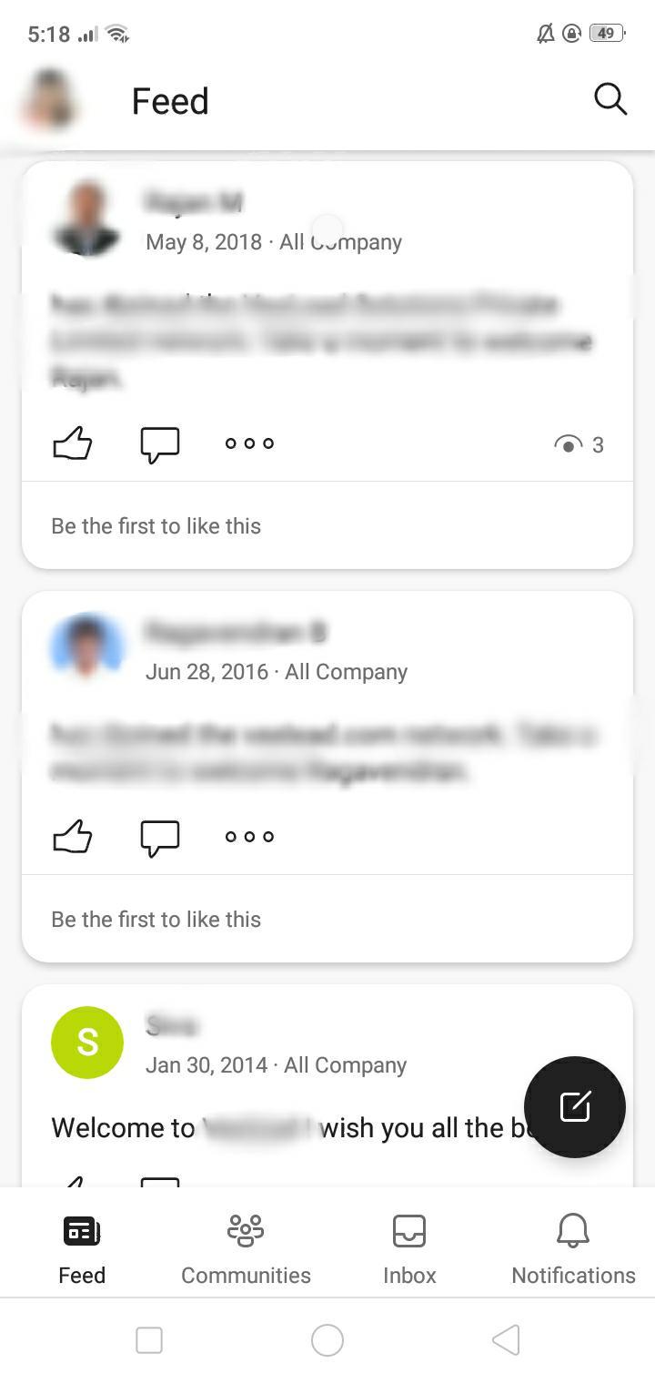 Office 365 Moblie App Yammer