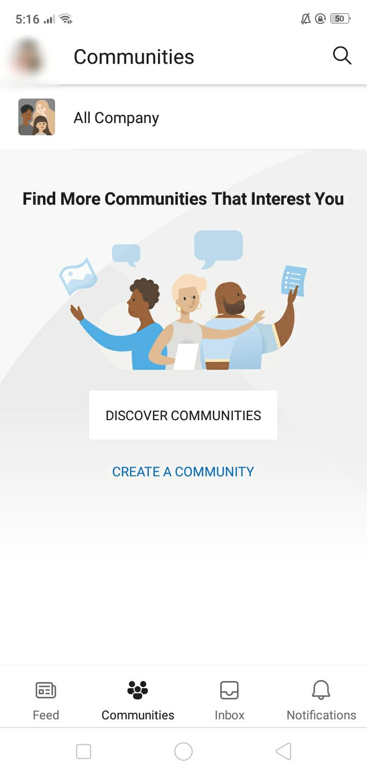 Office 365 Mobile app yammer