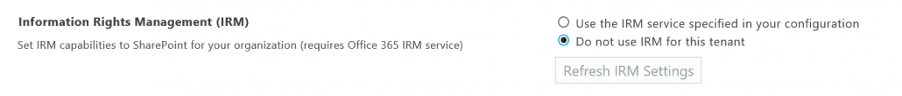 IRM capabilities SharePoint