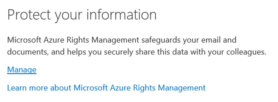 protect info Microsoft azure