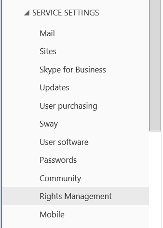 service setting Microsoft 365
