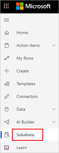 Power Automate Flows - Select Solution