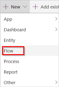 Power Automate Flows - selects new flow